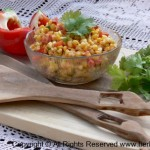 Grilled Corn Salad with Cilantro and Chive Mayonnaise